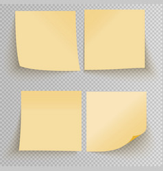 Office sticky stickers vector