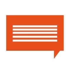 Orange conversation bubble vector