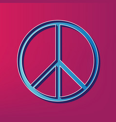 Peace sign blue 3d printed vector
