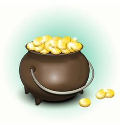 Pot with gold vector