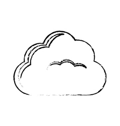 Single cloud icon image sketch line vector
