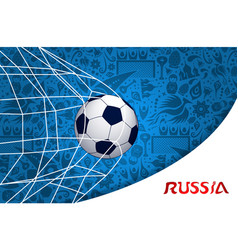 soccer match russian background design vector image vector image