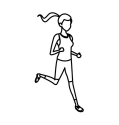 sport girl jogging athletic fitness image vector image