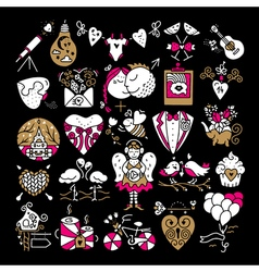 St valentines icons vector