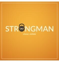 Strongman logo vector image vector image