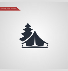 tent icon simple vector image vector image