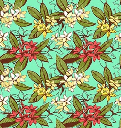 Tropical floral summer seamless pattern with vector image
