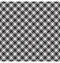 Black white diagonal check fabric texture seamless vector
