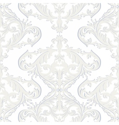 Vintage baroque ornament pattern vector