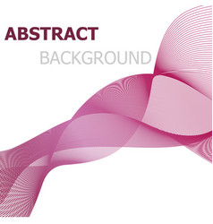 Pink line wave abstract background vector