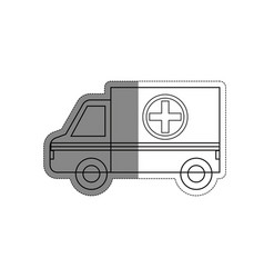 Ambulance vehicle icon vector