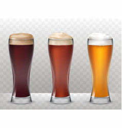 Three tall glasses with a vector