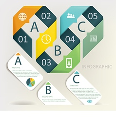 Infographics - five step process vector