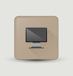 Computer screen icon vector
