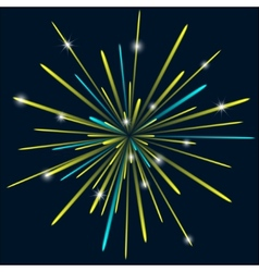 Firework background bark blue color vector