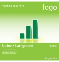 Chart business background vector