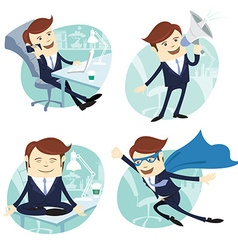 Office man set vector