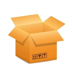 open-box-blue-arrow vector image