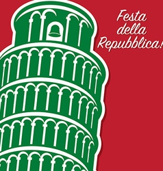 Italian republic day card in format vector