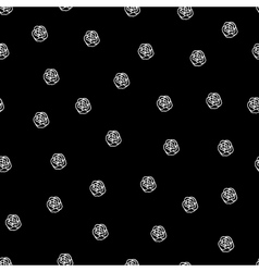 Black and white seamless roses pattern vector