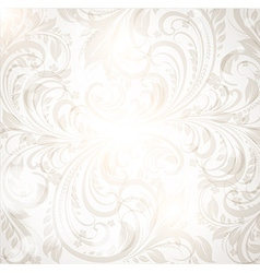 Floral background in neutral tones vector