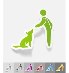 Realistic design element training dogs vector