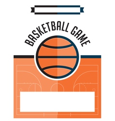 Basketball game flyer vector