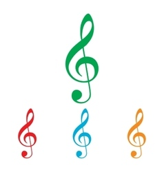 Music violine clef sign vector