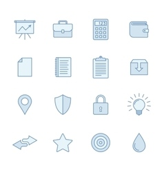 Universal line icons set vector image