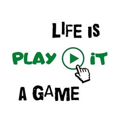 T shirt typography graphic quote life is game vector