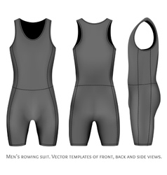Men rowing suit vector