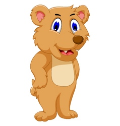 Cute bear cartoon vector