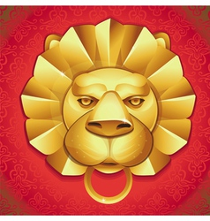 abstract logo - metal lions head vector image