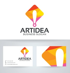 Art idea logo with business card template vector image