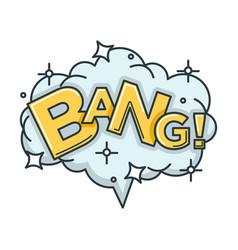 bang sound visualization with big cloud of shiny vector image vector image