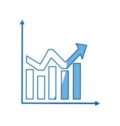 business graph and chart statistics financial vector image vector image