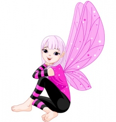 cartoon emo fairy vector image