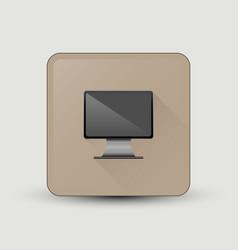 Computer screen icon vector