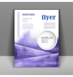 Design a flyer or booklet with a beautiful vector