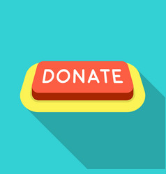 Donate button icon in flate style isolated on vector