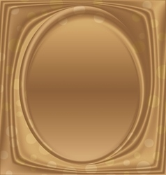 gold metal picture frame ellipse vertically vector image vector image