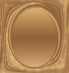 gold metal picture frame ellipse vertically vector image