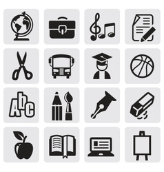 Icons set school vector image vector image