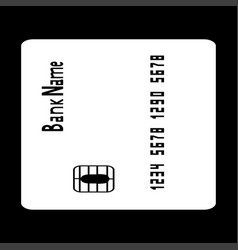 Inserting credit card the white color icon vector