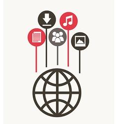 internet design vector image