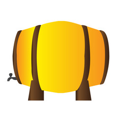 isolated beer barrel vector image
