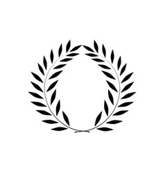 Laurel wreath reward on white background vector