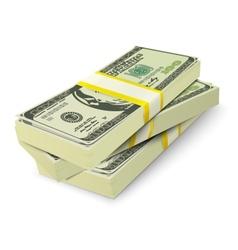 Money stack banknotes concept vector