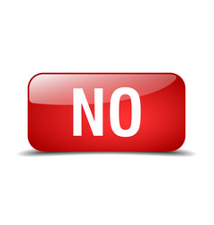 No red square 3d realistic isolated web button vector
