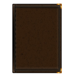 Notepad in brown leather binding vector